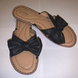 Sonoma leather sandal bow
